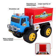 Camion cu frictiune Regency Toys, 21.5x39x16 cm, plastic, Multicolor