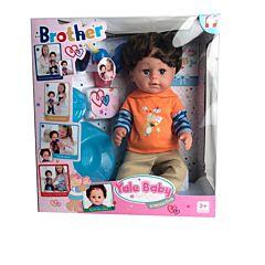 Papusa bebelus Bebe frate Piccolino, plastic, Multicolor