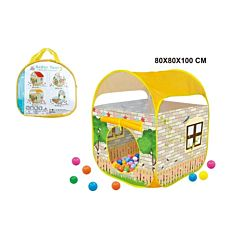 Cort pop-up 010 Piccolino, 80x80x100 cm, plastic, Multicolor