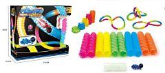 Set circuit prin tub Piccolino, plastic, Multicolor