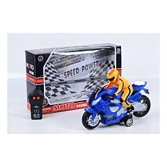 Motocicleta cu 2 functii Piccolino, cu radio-comanda, plastic, Multicolor
