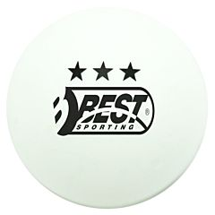 Set 6 mingi tenis masa cu 3 stele Best Sporting, Alb