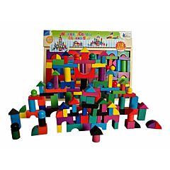 Joc constructii lemn Piccolino, 112 piese