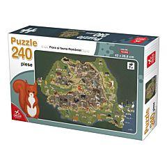 Puzzle Flora Romaniei Deico Games, 240 piese