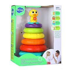 Ratusca de jucarie cu lumini si sunete Hola, plastic, Multicolor