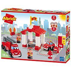 Joc de construit statie de pompieri Abrick Ecoiffier