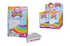 Bila pentru baie cu efect curcubeu Glibbi Simba, pudra, Multicolor
