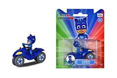 Figurina Cat cu motocicleta Eroi in Pijamale Dickie, Albastru
