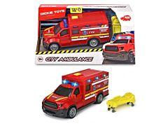 Masina de ambulanta si pompieri SMURD Dickie, plastic, Rosu