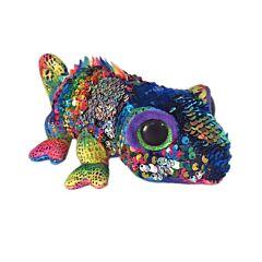 Jucarie de plus cameleon BB Flip Karma Ty, cu paiete reversibile, 24 cm, Multicolor
