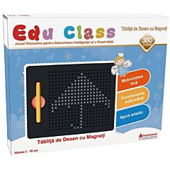 Tablita cu magneti Edu Class, 380 piese