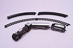 Set de asamblare tren cu sunete si lumini, 11 piese, plastic, Multicolor