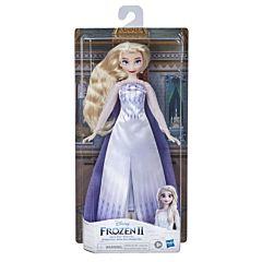 Papusa Elsa Regina zapezii Frozen II, plastic, Multicolor
