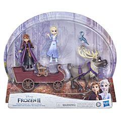 Set Prieteni cu sanie Frozen II, plastic, Multicolor