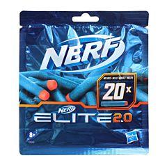 Rezerva 20 de proiectile Nerf Elite 2.0, plastic, Multicolor