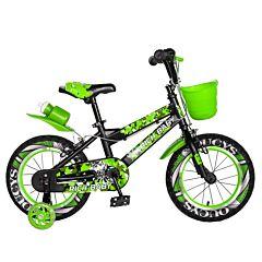 "Bicicleta pentru copii 14"" R14WTA Rich Baby, Verde"
