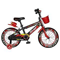 """Bicicleta pentru copii 16"""" R16WTB Rich Baby, Negru/Rosu"""