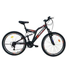 """Bicicleta de munte 26"""" R2649A Full Suspension Rich, Negru/Rosu"""
