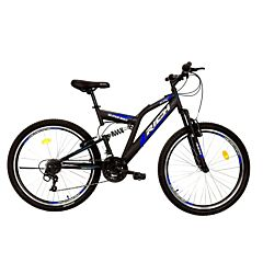 """Bicicleta de munte 26"""" R2649A Full Suspension Rich, Negru/Albastru"""