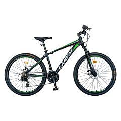 """Bicicleta de munte 26"""" C2699A Aluminiu Carpat, Negru/Verde"""