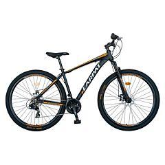 """Bicicleta de munte 29"""" C2699A Aluminiu Carpat, Negru/Portocaliu"""