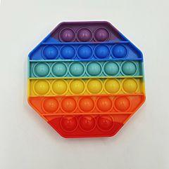 Jucarie antistres Pop It, forma hexagonala, Multicolor