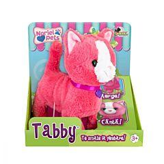 Jucarie de plus interactiva Pisicuta Tabby Noriel Pets, Roz