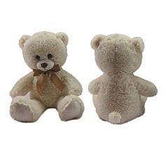 Urs de plus, 60 cm, Crem