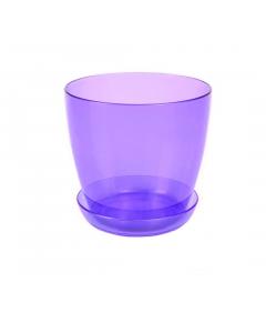 Ghiveci trasparent pentru orhidee 3 L, violet