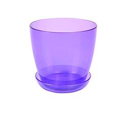 Ghiveci trasparent pentru orhidee 1.5 L, violet