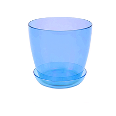Ghiveci trasparent pentru orhidee 3 L, bleu