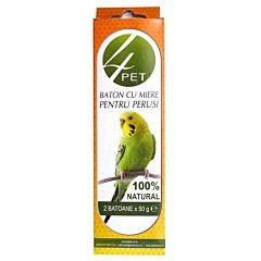Baton cu miere pentru perusi 100 gr, 4Pet