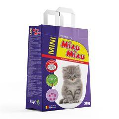 Asternut igienic pentru pisici cu aroma de lavanda 3 KG, Miau Miau