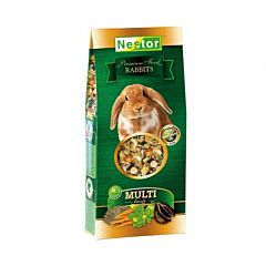 Hrana premium pentru iepuri Nestor, morcov si lucerna, 230 g