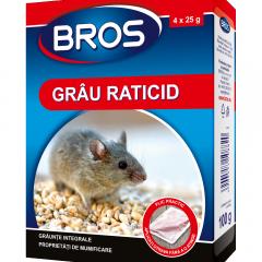 Otrava pentru rozatoare sub forma de grau 100g, Bros