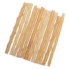 Baton din piele rasucita pentru caini 12.5 cm, 15 bucati, 4Dog