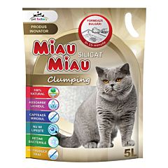 Asternut silicatic Miau Miau Clumping 5 L