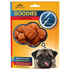 Recompense pentru caini Chicken Poppers Goodies 100 gr, 4Dog