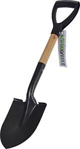 Lopata pentru gradina ProGarden, metal/lemn, 15.5x68x4.5 cm, Negru