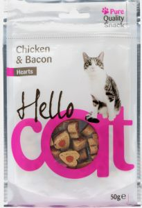 Recompense pui/bacon 50 g, Hello Cat
