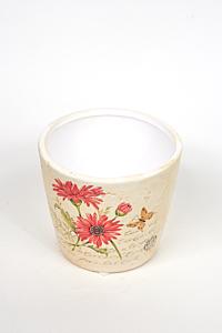 Ghiveci ceramica flori 11.5 cm