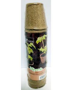 Ghivece biodegradabile 6 cm, set 24 bucati