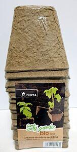 Ghivece biodegradabila 8 x 8 cm, set 18 bucati