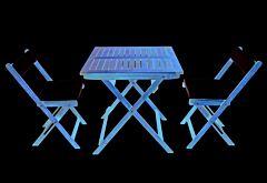 Set masa + 2 scaune, acacia