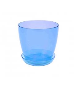 Ghiveci trasparent pentru orhidee 1.5 L, bleu
