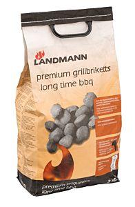 Brichete premium pentru gratar 3 kg, Landmann