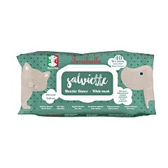 Servetele umede pentru curatare Ferribiella, parfum mosc alb, pH neutru, fara alcool, 40 buc