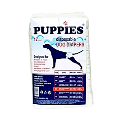 Scutece pentru caini Puppies M, 12 buc