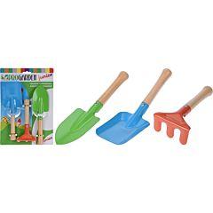 Set unelte de gradinarit pentru copii ProGarden, metal/lemn, Multicolor