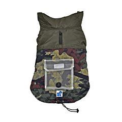 Jacheta pentru caini, model camuflaj, 45 cm, Multicolor